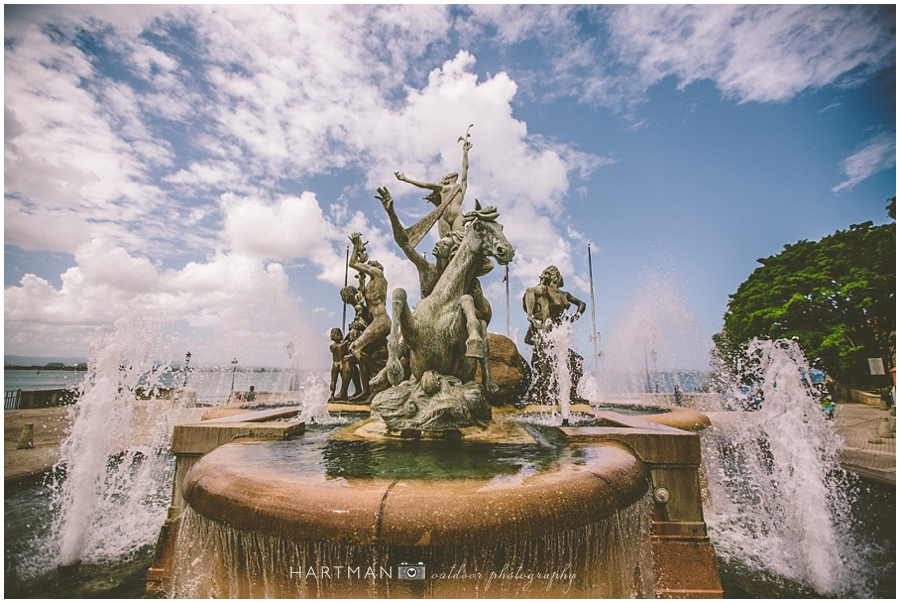 Puerto Rico Travel Photography Fountain