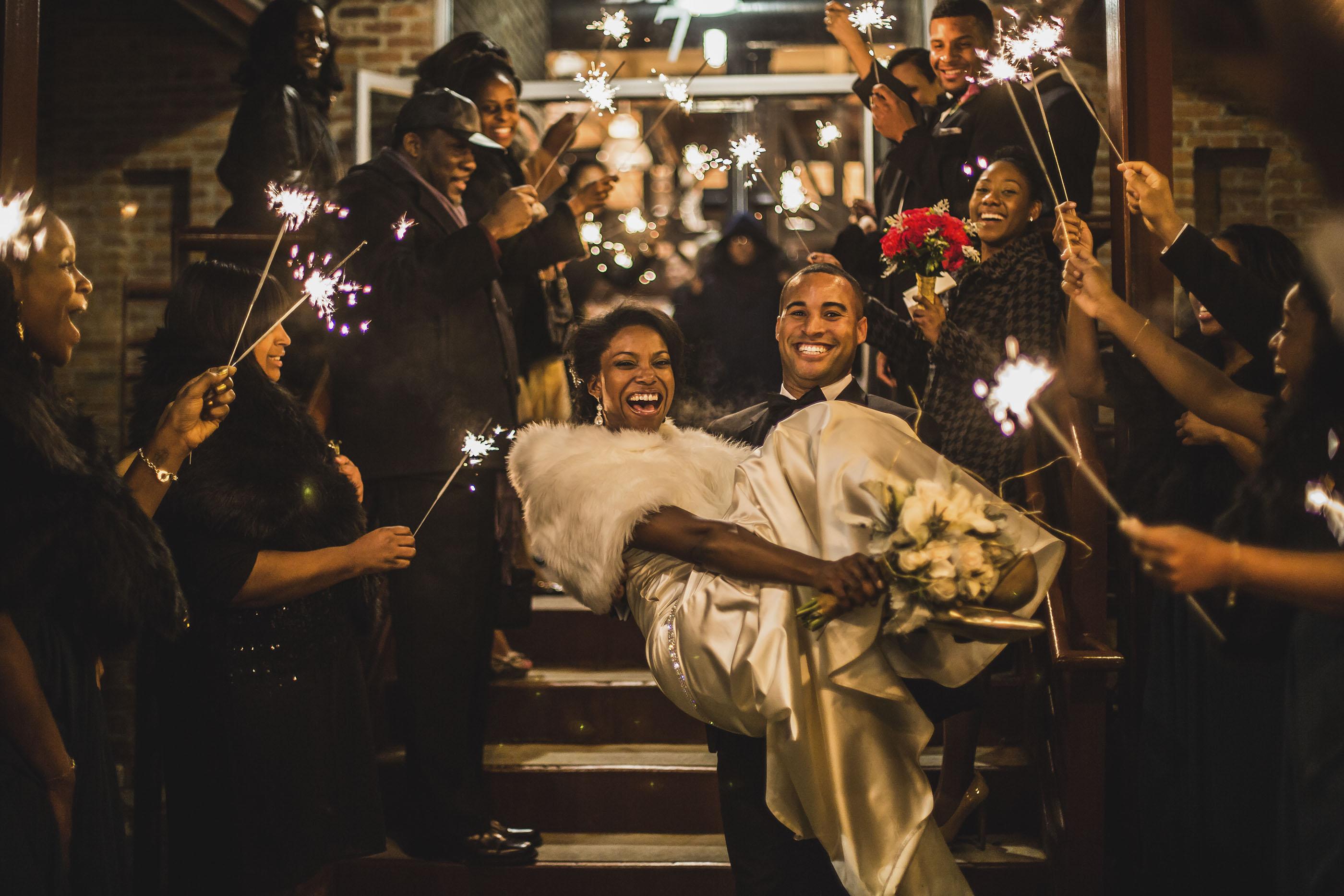 Durham-Wedding-Sparkler-Sendoff