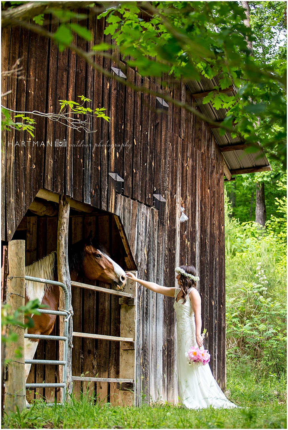 Asheville Bride with Horse