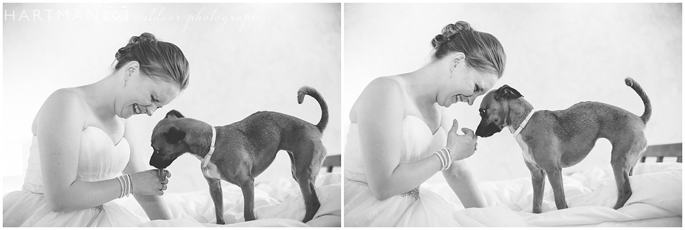 Kristin with Dog