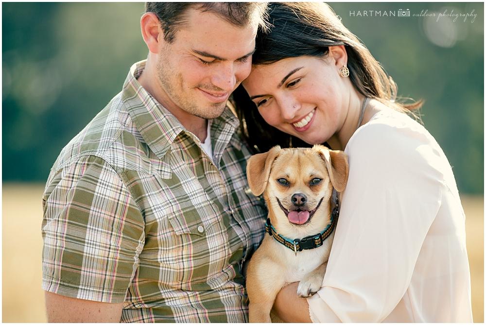 Kirsten and Zach Engagement Pet