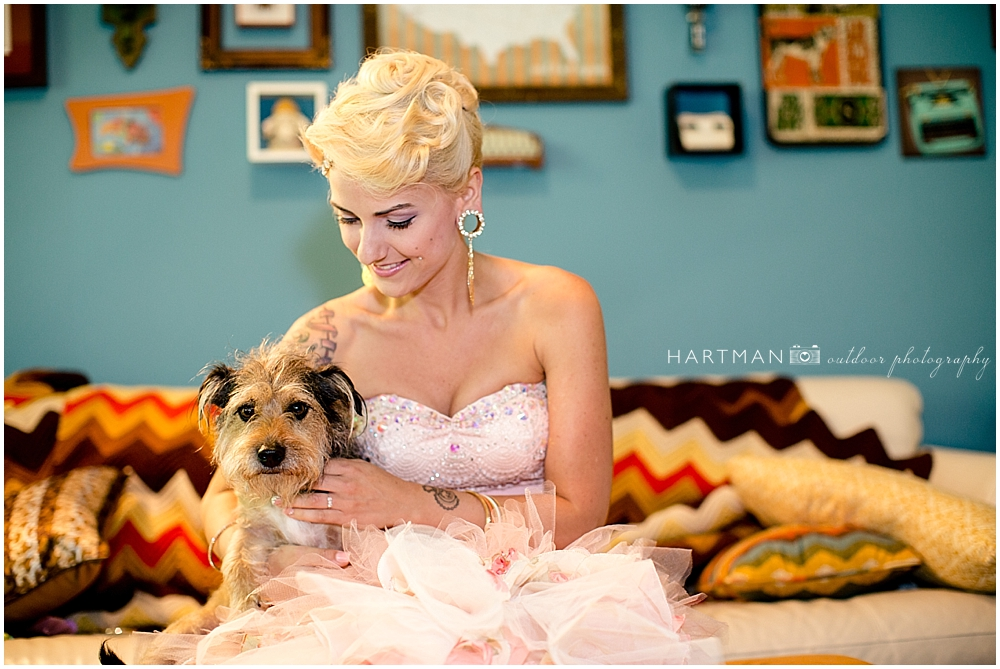 Hipster Bride and Dog