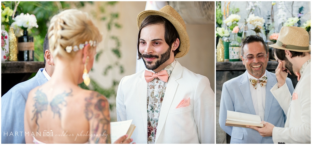 Hipster Groom Crying