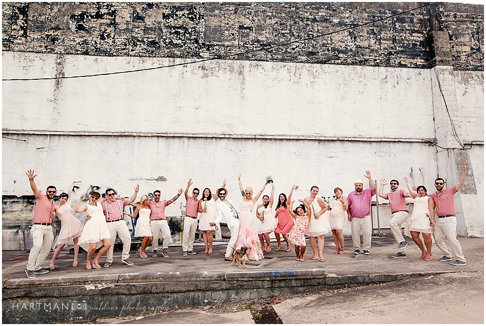 Urban Rustic Raleigh Wedding Party