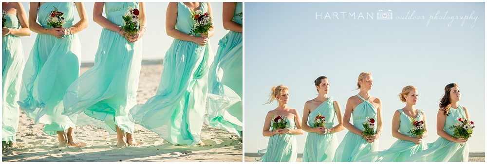 Bridesmaids NC Beach Wedding 0086