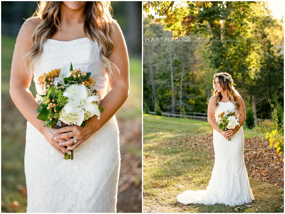 Raleigh outdoor rustic bridal portraits