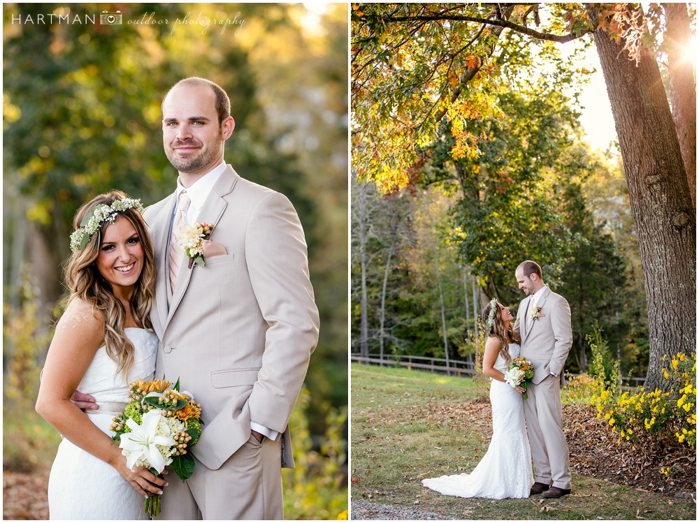 Raleigh golden light wedding photos