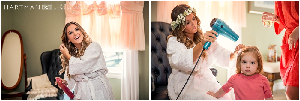 Carrie Riggin wedding day
