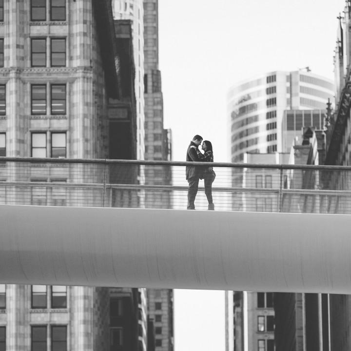 Brittany + Matt | Downtown Chicago Engagement