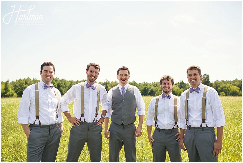 Greensboro Outdoor Wedding in Meadow