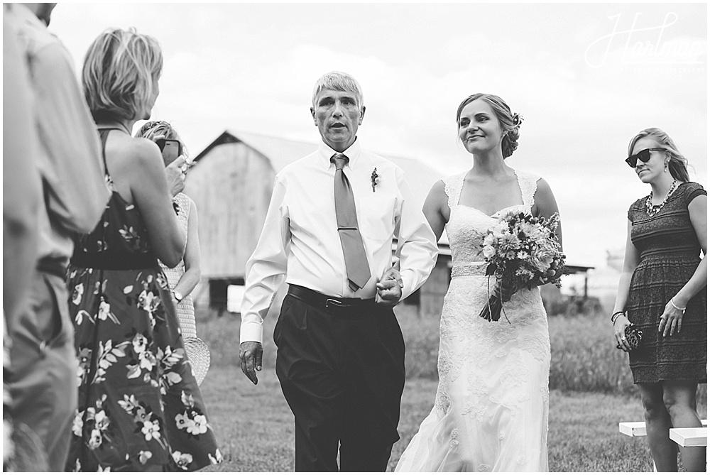 NC Outdoor Wedding in Meadow