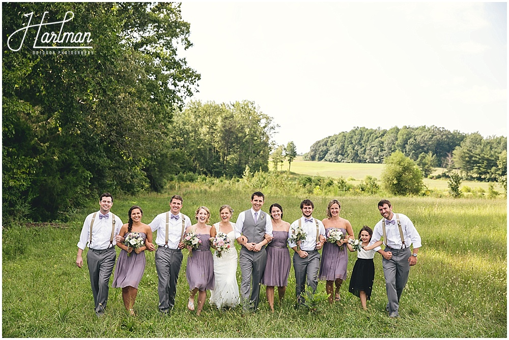 Greensboro Open Field Wedding Ceremony