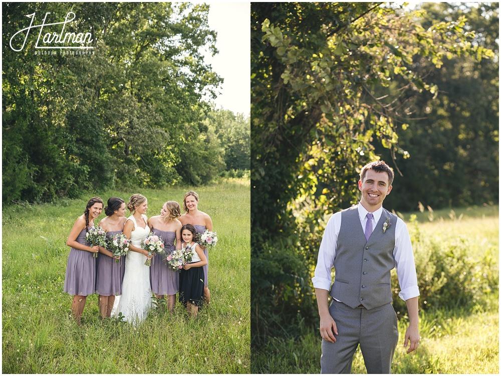 Greensboro NC Wedding Ceremony in open field