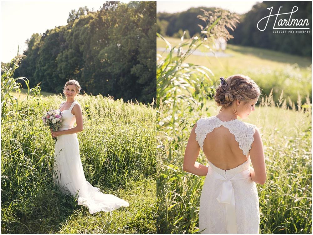 Greensboro Bridal Portrait in Open Field