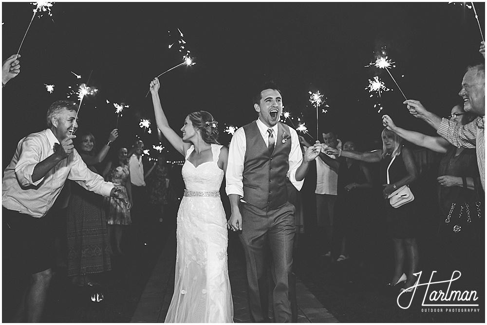 Starlight Meadow Wedding Sparkler Exit