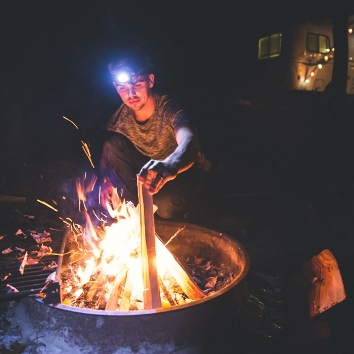 Birthday Camping in Brevard