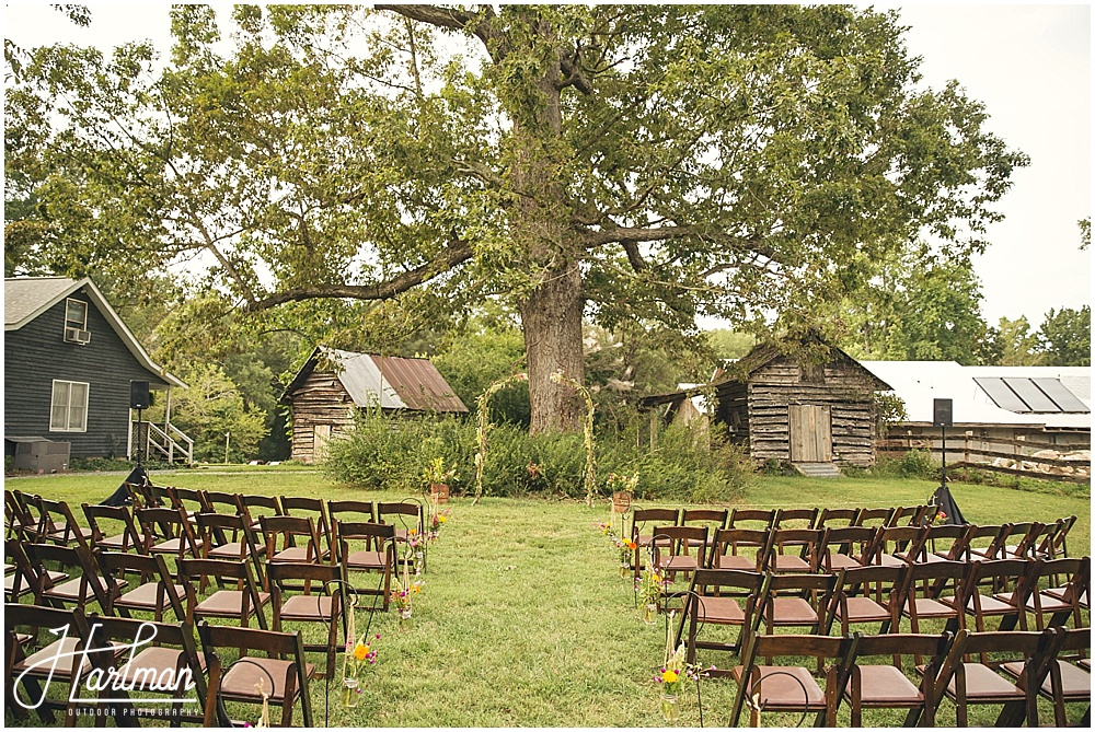 Outdoor Wedding Ceremony Inn at Celebrity Dairy