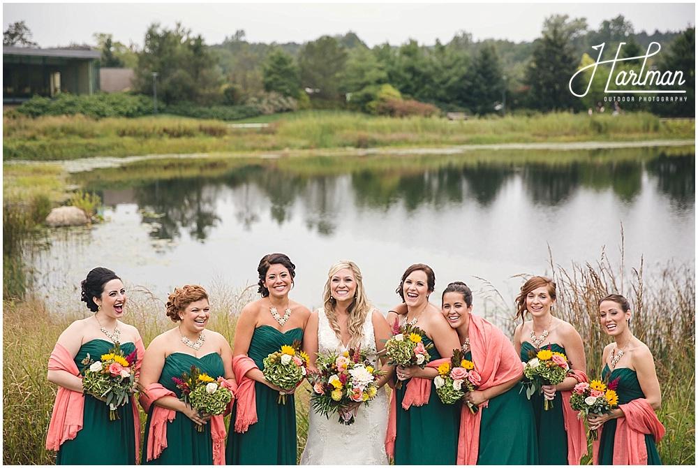 Morton Arboretum Wedding bridesmaids