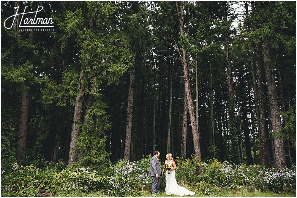 Morton Arboretum Wedding Bride and Groom Newlywed portraits in woods