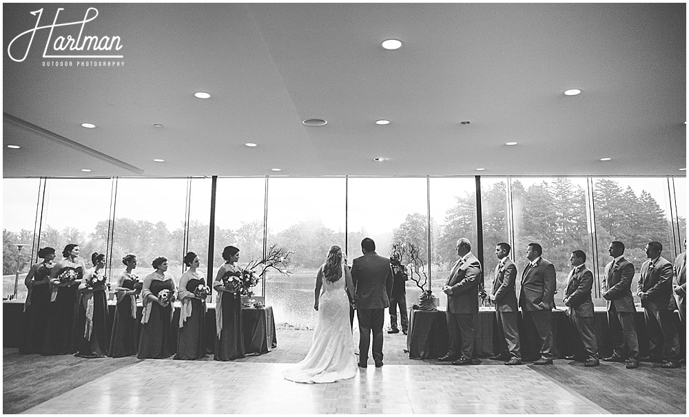 Morton Arboretum Wedding ceremony in Ginko Room