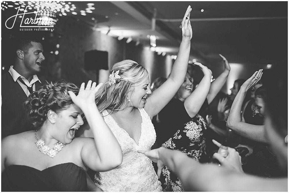Morton Arboretum Wedding bride dancing