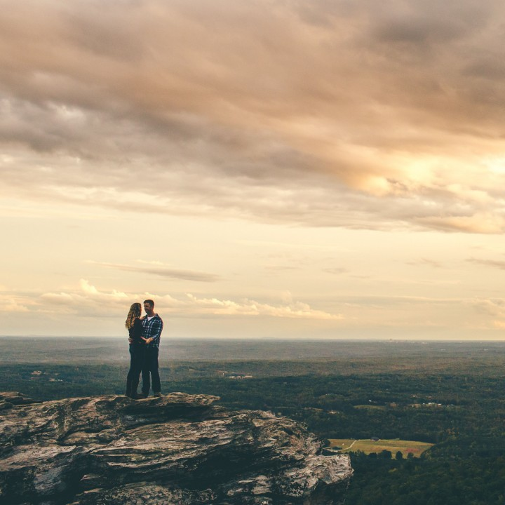 Nicole + Nick | Hanging Rock State Park Engagement
