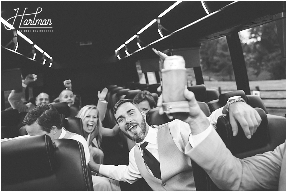 raleigh wedding party bus