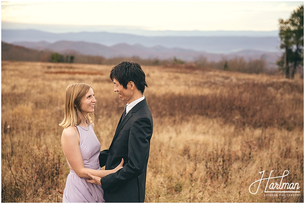 Big Meadows Shenandoah Elopement Engagement