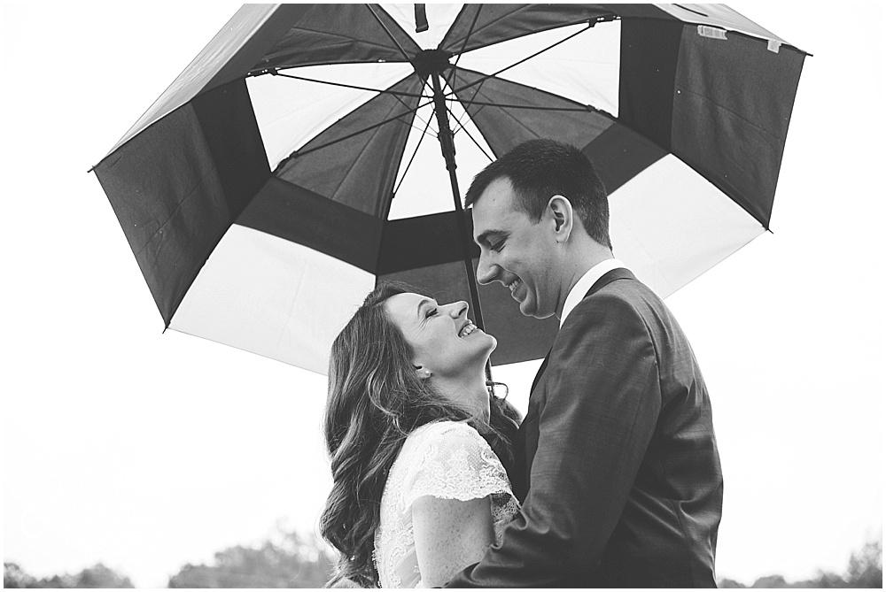 Rainy Fall Wedding Raleigh NC