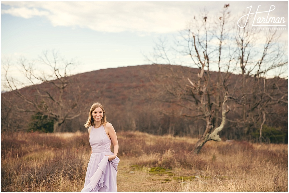 Big Meadows Shenandoah Elopement Bride and Groom