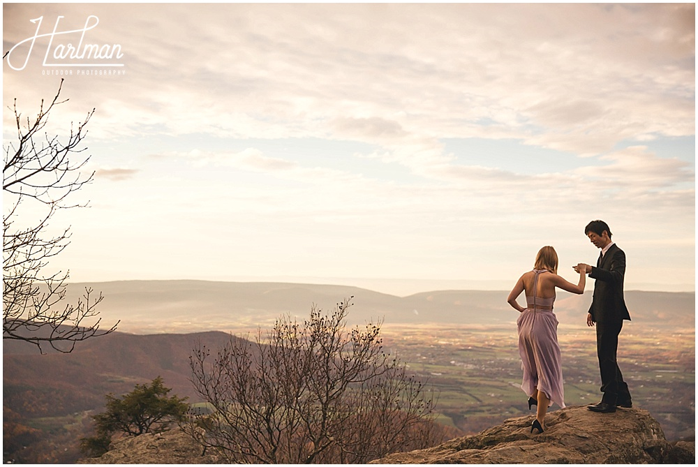 Shenandoah National Park Mountaintop Cliffside Elopement 1083