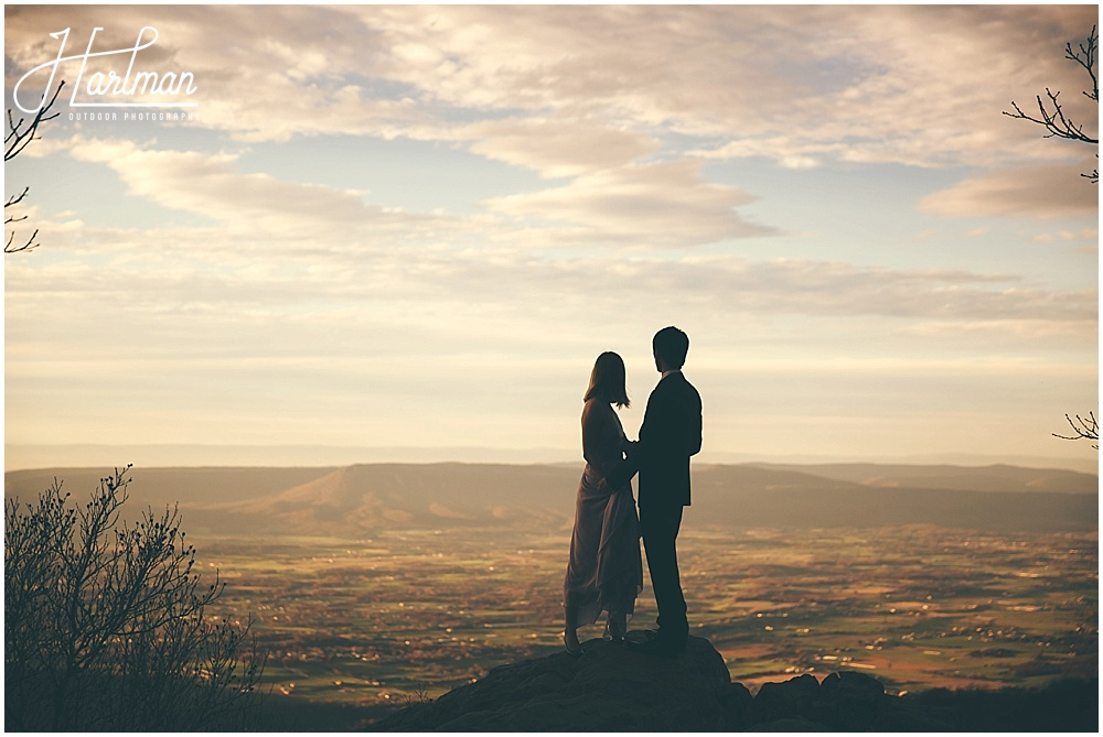 Best View in Shenandoah National Park Elopement Wedding Ceremony Site 1090