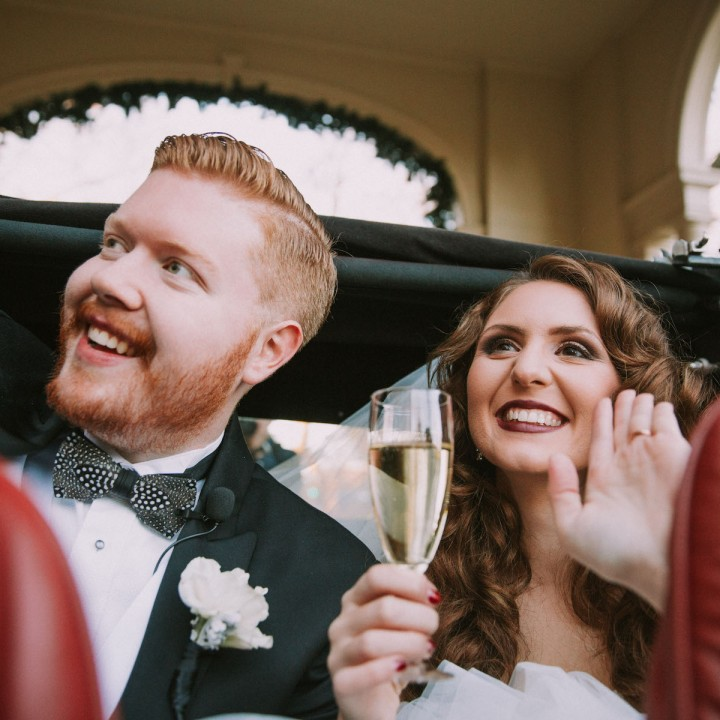 Kate + Adam | Gatsby Themed Winter Wedding