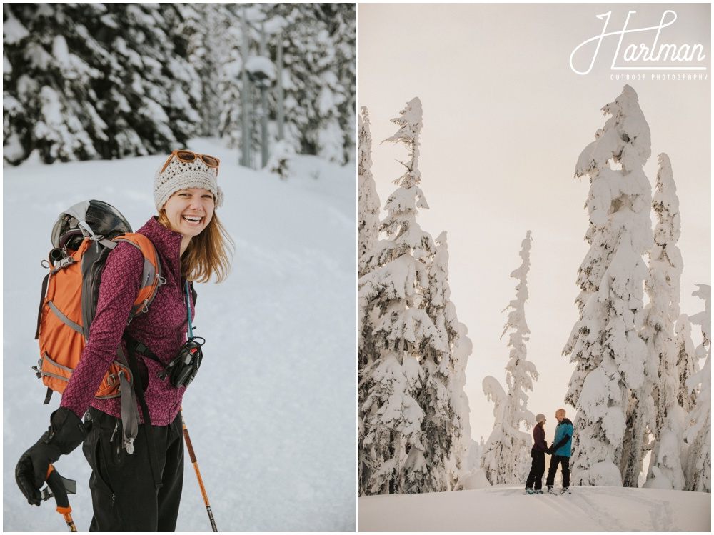 Backcountry Skiing Engagement Wedding Elopement 0011