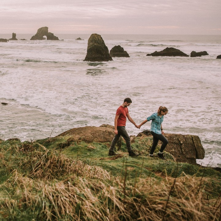 Oceanside Ecola Hike with a Surprise Proposal | Oregon