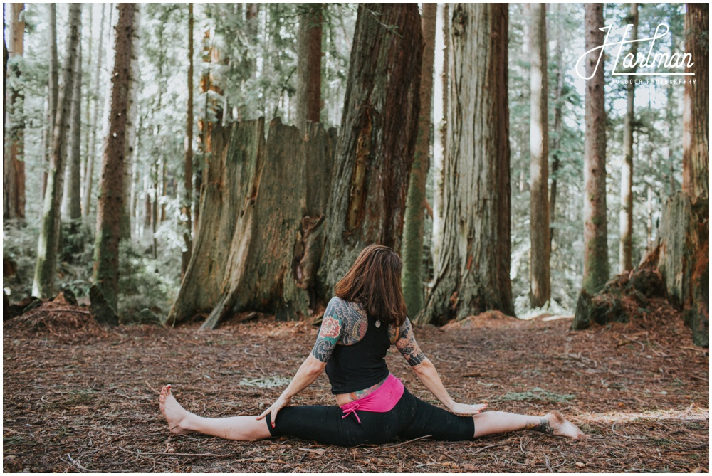 Redwood forest yoga lifestyle portrait 0033