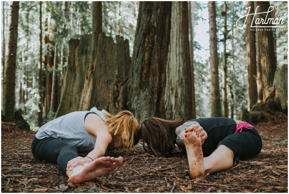 Redwood forest yoga lifestyle portrait 0035