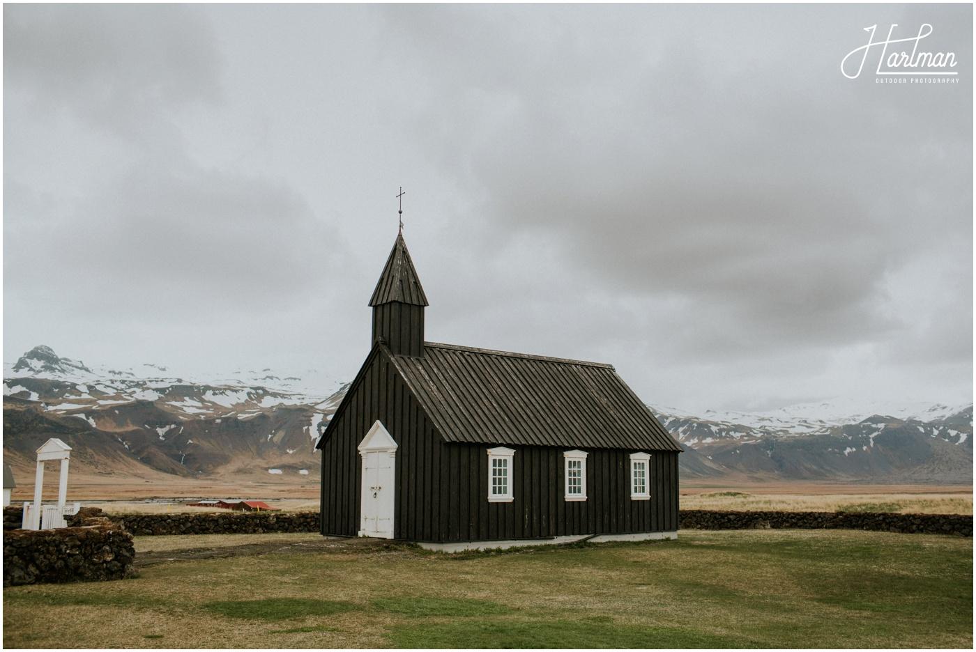 Iceland Black Church Wedding _0004