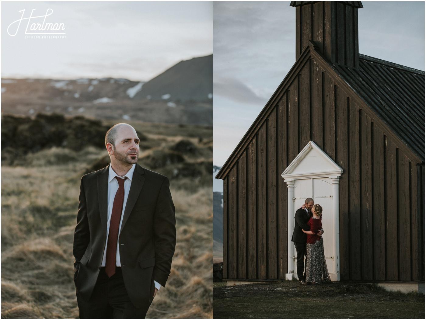 Idyllic Black Church Iceland _0089