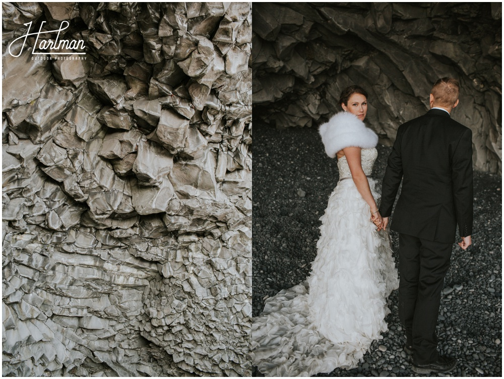 Iceland Black Sand Beach Wedding Ceremony _0039