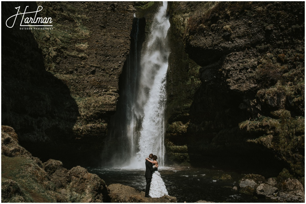 Iceland Waterfall Wedding Photographer _0028