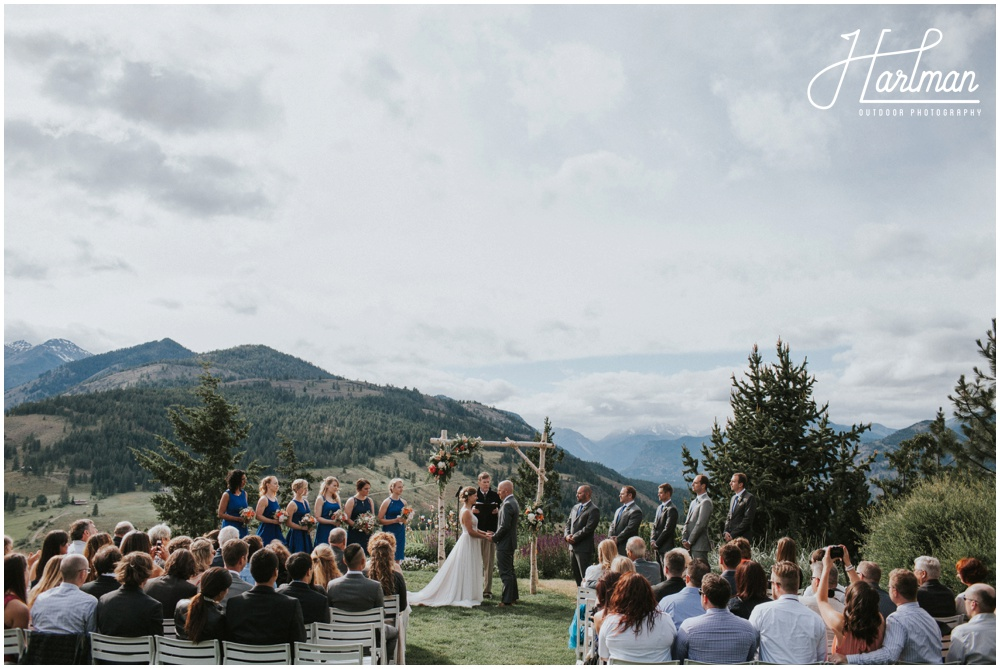 Wedding Ceremony in North Cascade Mountains _0064