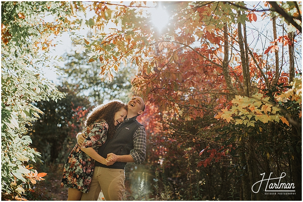 Asheville autumn engagement session