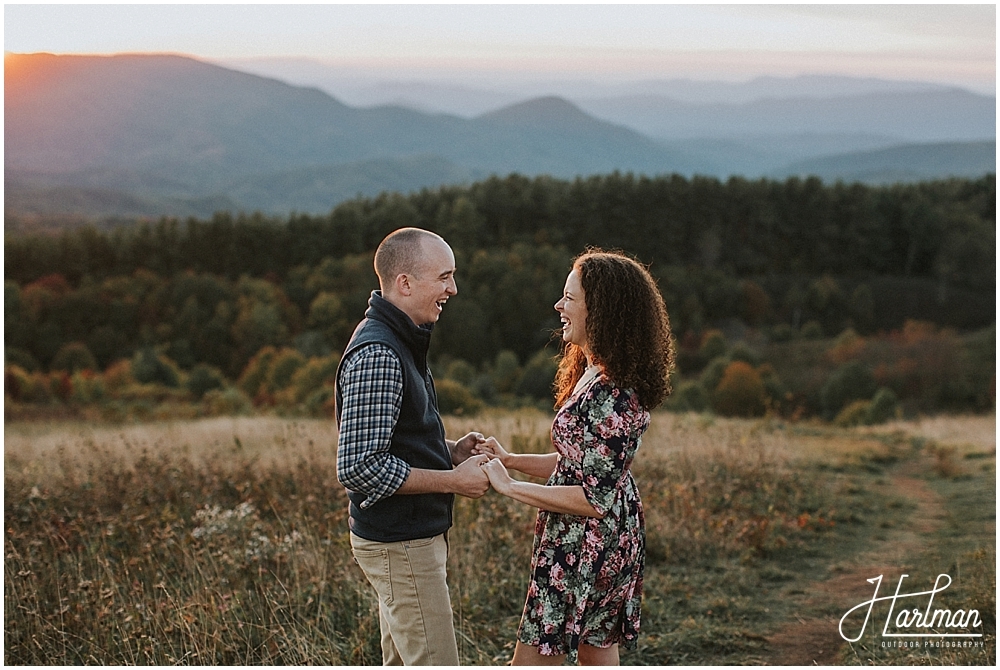 hot springs north carolina engagement session