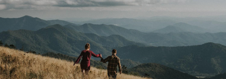 Casey + Dan   Roan Mountain Tennessee Adventure Engagement
