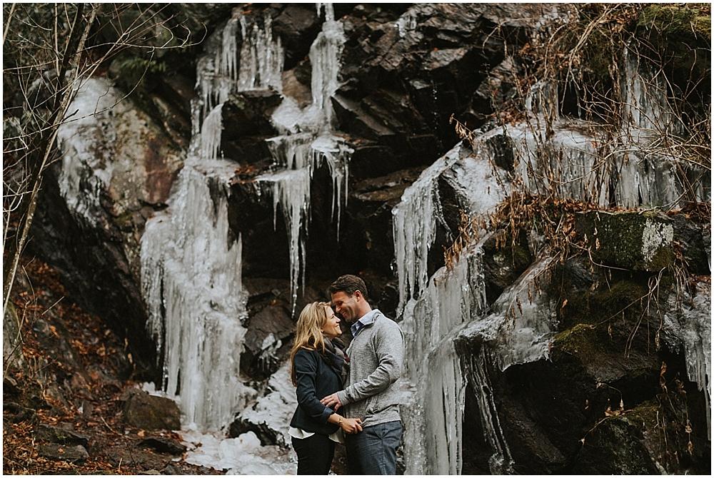 outdoor mountain winter wedding