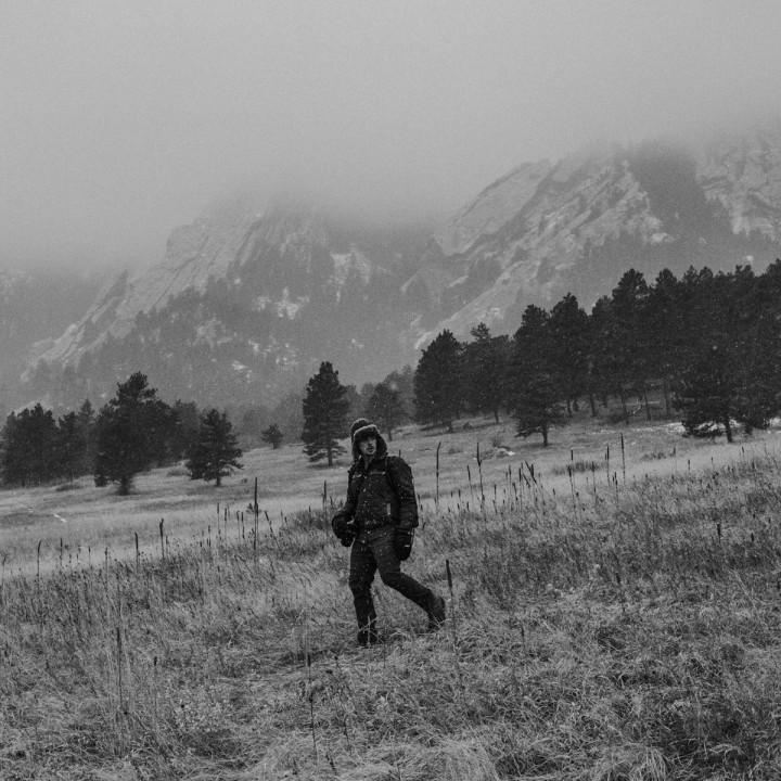Colorado   Boulder Flatirons Hike in Snow