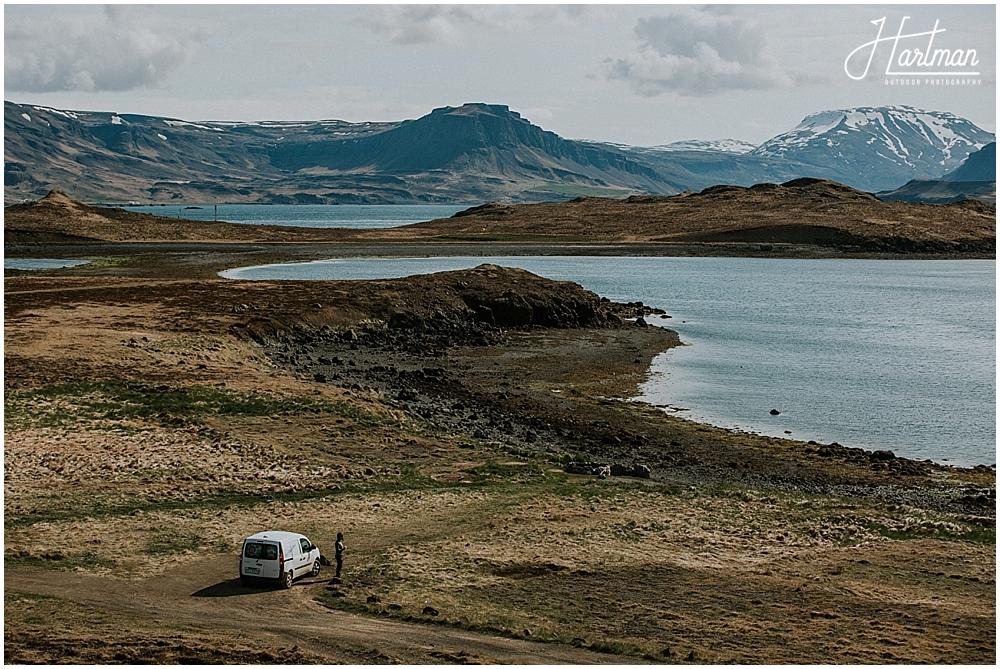 Iceland camper van travel