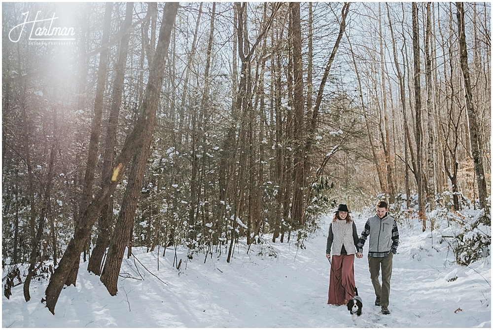 North Carolina snow engagement
