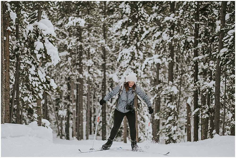 rocky mountain national park ski wedding